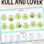 St. Patrick's Day Roll and Cover Numbers Activity