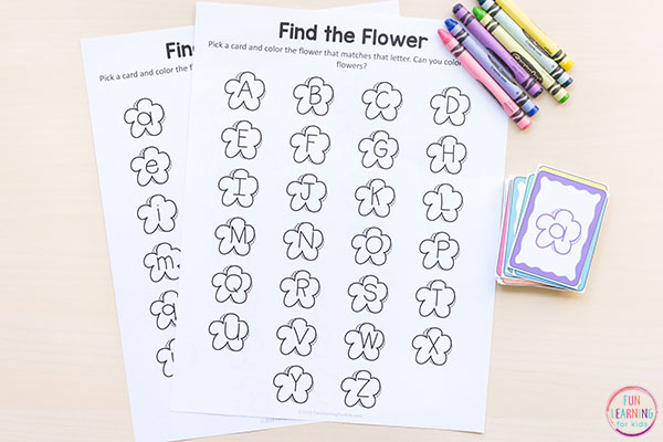 A fun flower activity for your spring centers.
