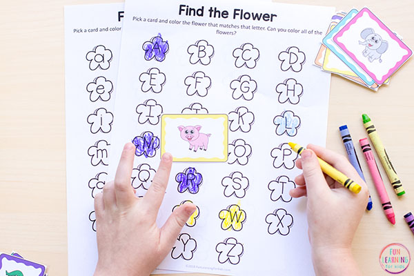 A fun spring alphabet activity for preschool and kindergarten.