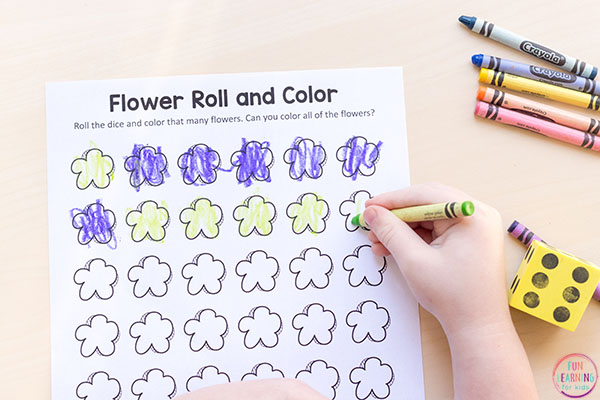 Flower numbers activity for spring.