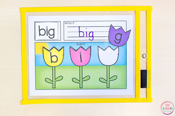 Build words and reinforce phonics and spelling with this differentiated word building activity.
