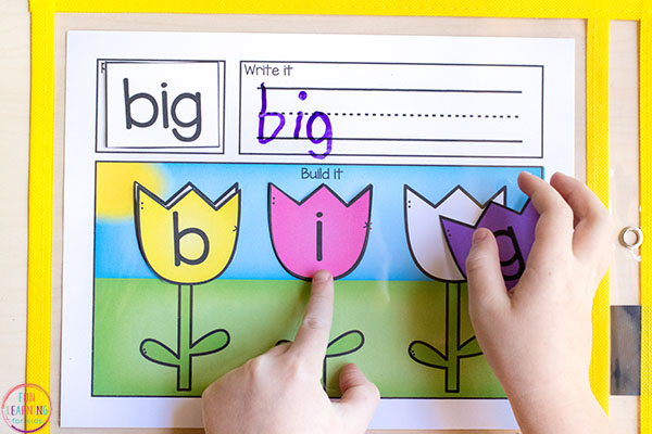 Spring flower word building activity for your spring centers in kindergarten, first grade and second grade.