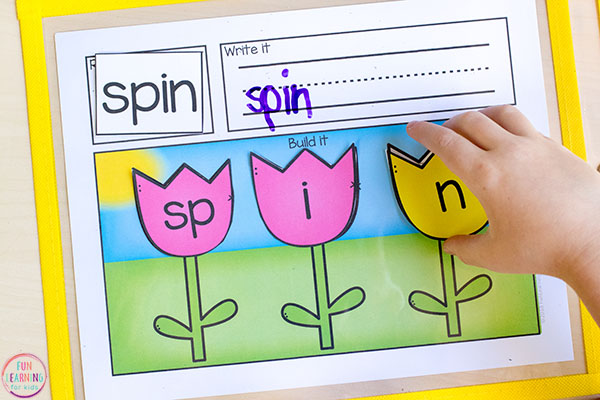 Teach CVCC words, CCVC words and CCVCC words with blends and digraphs. This fun word building activity is so much fun!
