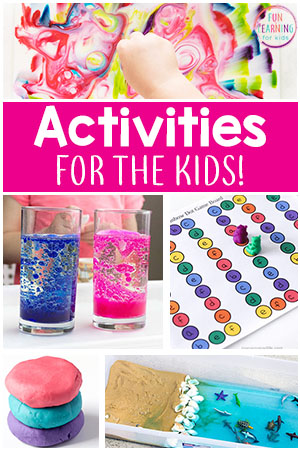 These kids activities are the best of the best! Fun learning activities for kids.