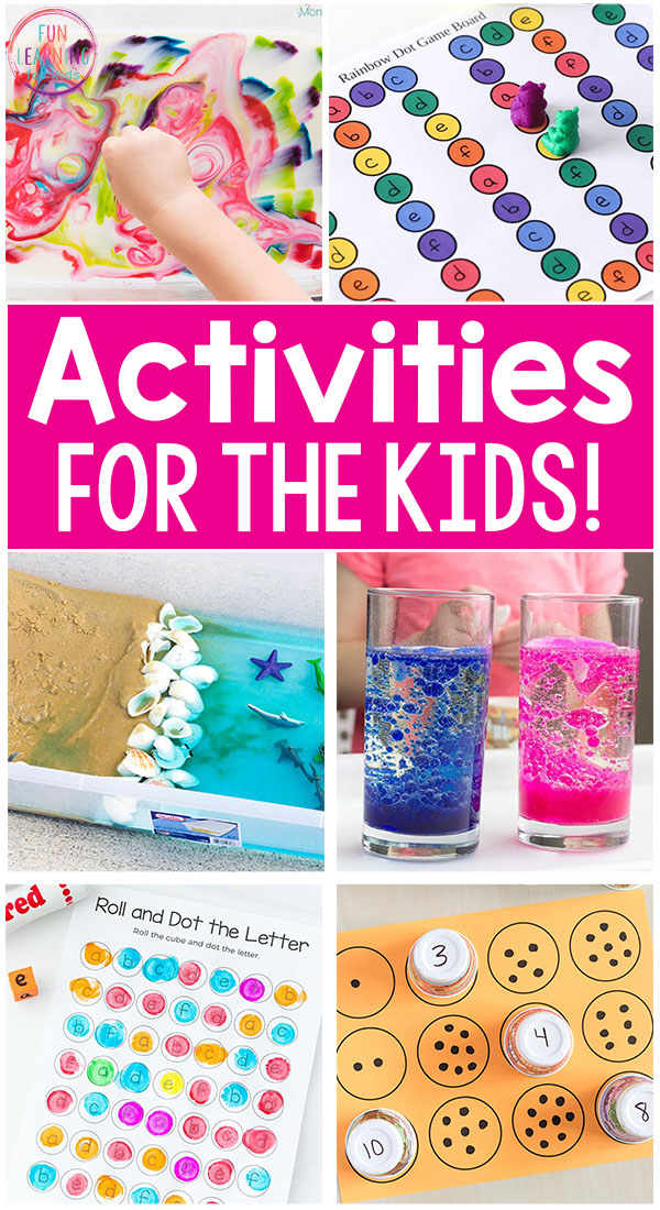 Kids activities that are so much fun! These activities for kids make learning playful and hands-on!