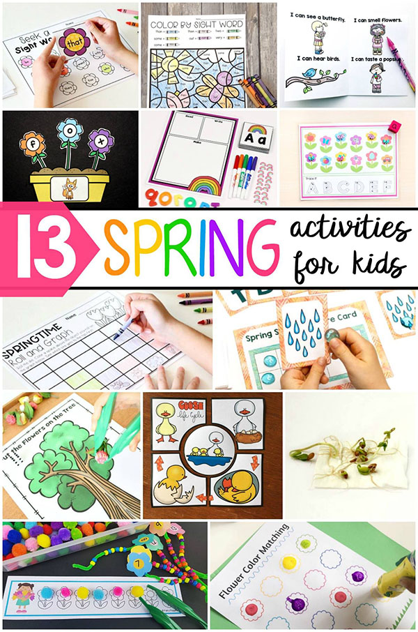 Spring activities for kids.