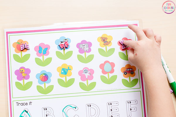 Flower roll and cover mats are perfect for your math and literacy centers.