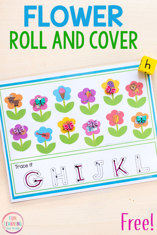Flower theme math and literacy activities for kindergarten and preschool.