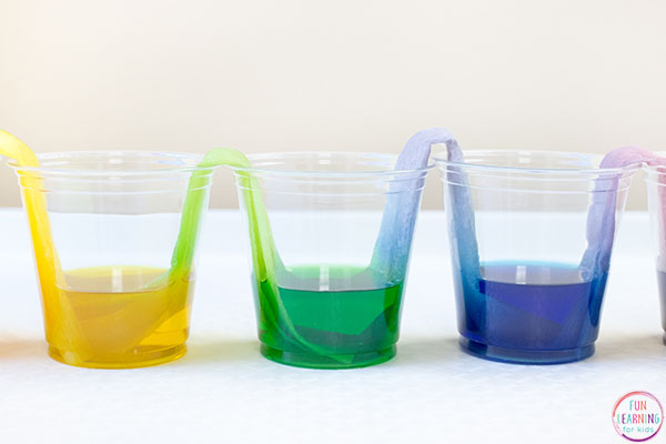 A cool color mixing activity for kids.