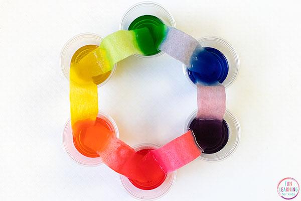 Walking water color wheel.