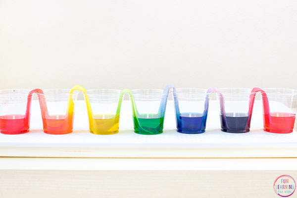This rainbow science experiment is a so cool!