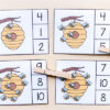 Beehive counting cards for learning numbers and counting.