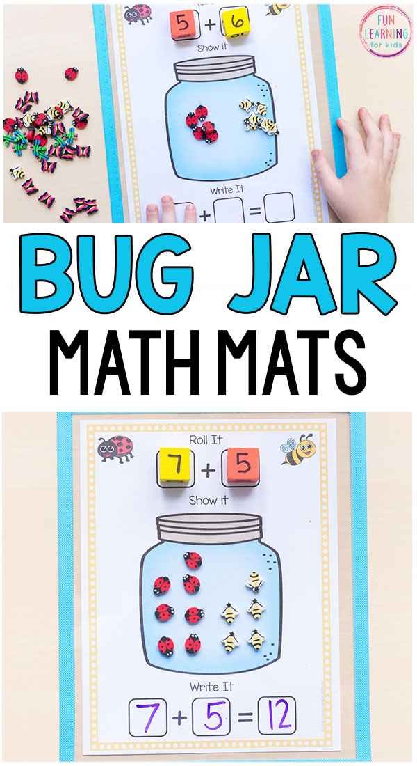 Math activity for your bug theme math centers this spring!