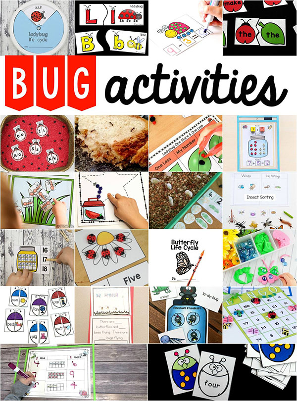 Bug activities for kids.
