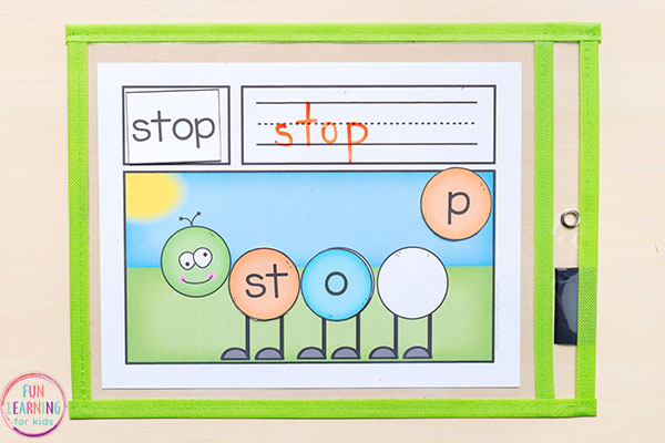 Caterpillar word building mats