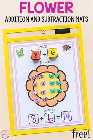 Flower Addition and Subtraction Mats
