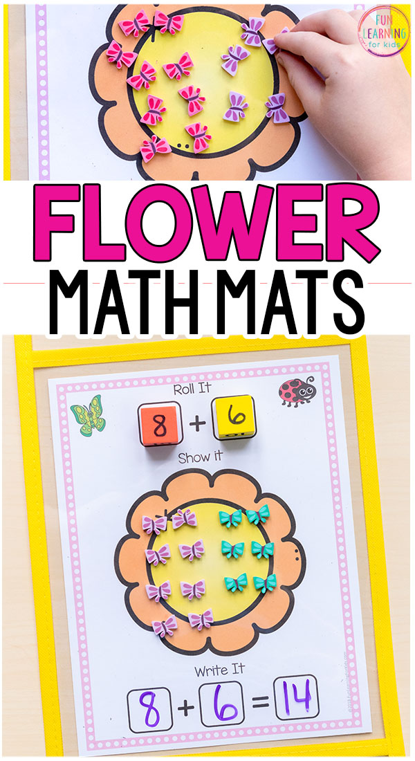 These flower addition and subtraction mats are perfect for your spring math centers!