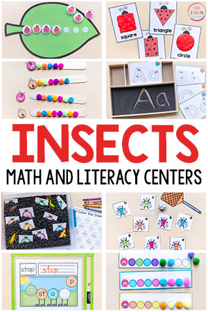 Insect Theme Printables for Pre-K and Kindergarten