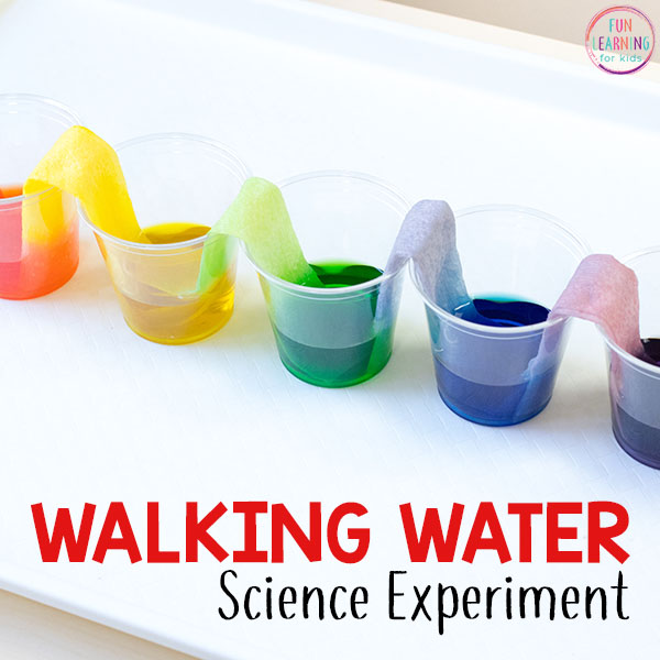A fun walking water science experiment.