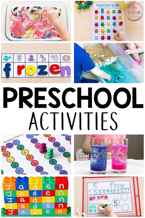 A list of fun and engaging activities for preschoolers! If you are looking for preschool activities, you have to check this out!