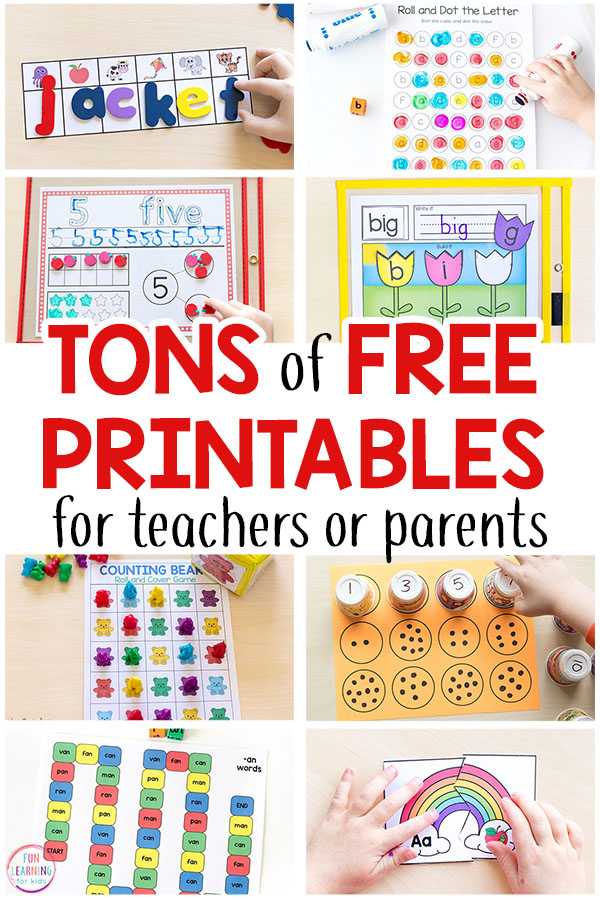 Free Printable Activities For Kids - Fun Learning For Kids
