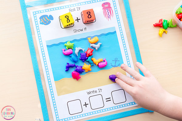 Ocean math activity for kids.