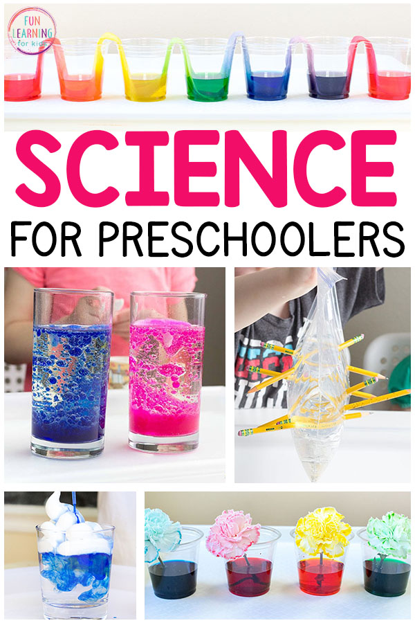 So many fun science activities for preschoolers. Everything from science experiments to STEM and STEAM explorations and more! These preschool science activities are sure to be a blast!