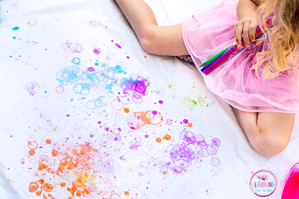 Paint with bubbles and have a blast while making process art!
