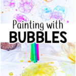 Bubble Painting Process Art Activity