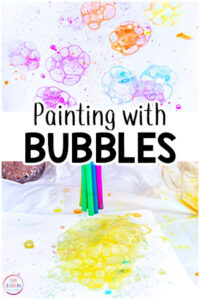 Painting with bubbles is the perfect art activity for summer or spring. Your kids are going to have a blast while bubble painting!