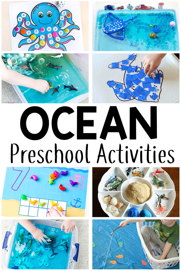 These ocean theme preschool activities are sure to be a hit!