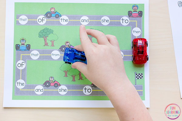 Want to make learning sight words fun and exciting? This sight word game is sure to be a hit with the kids.