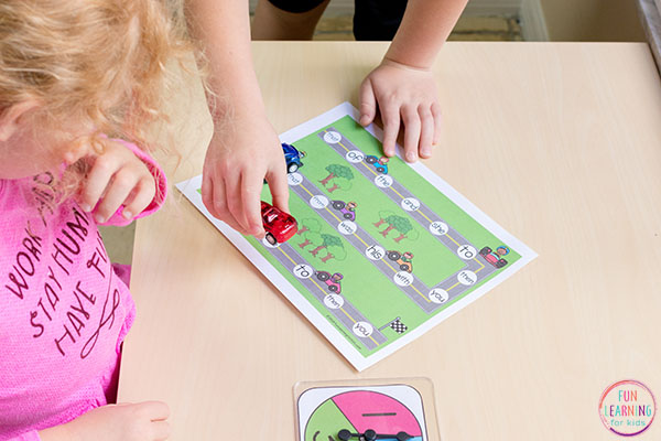 A fun sight word board game that kids will love.
