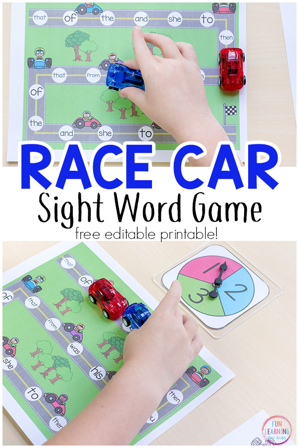 This editable sight word game is a hands-on way for kids to learn sight words!