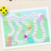 Editable dinosaur sight word board game.