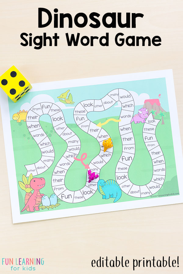 photograph about Word Game Printable called Editable Sight Term Game titles