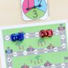 Editable race and read sight word game. This race car themed sight word board game is a blast!