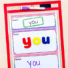 Editable sight word read it, build it, write it mats. A fun, hands-on way to learn sight words!