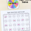 This editable sight word spin and cover game will make learning sight words fun and engaging.