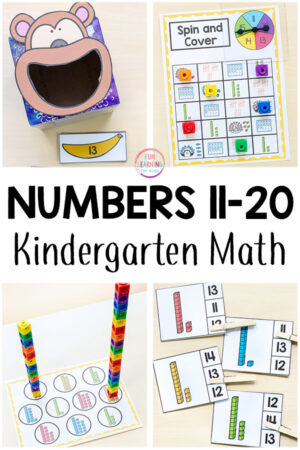 Numbers 11-20 activities for preschool and kindergarten. Teaching important math skills can be fun and engaging!