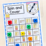 Pencil Spin and Cover Math Game