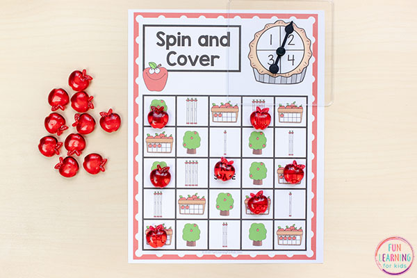 A fun math game for your fall math centers!