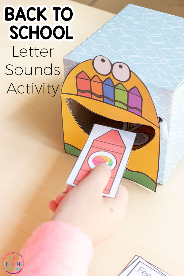 Your kids will have a blast with this back to school literacy center game that teaches the alphabet!