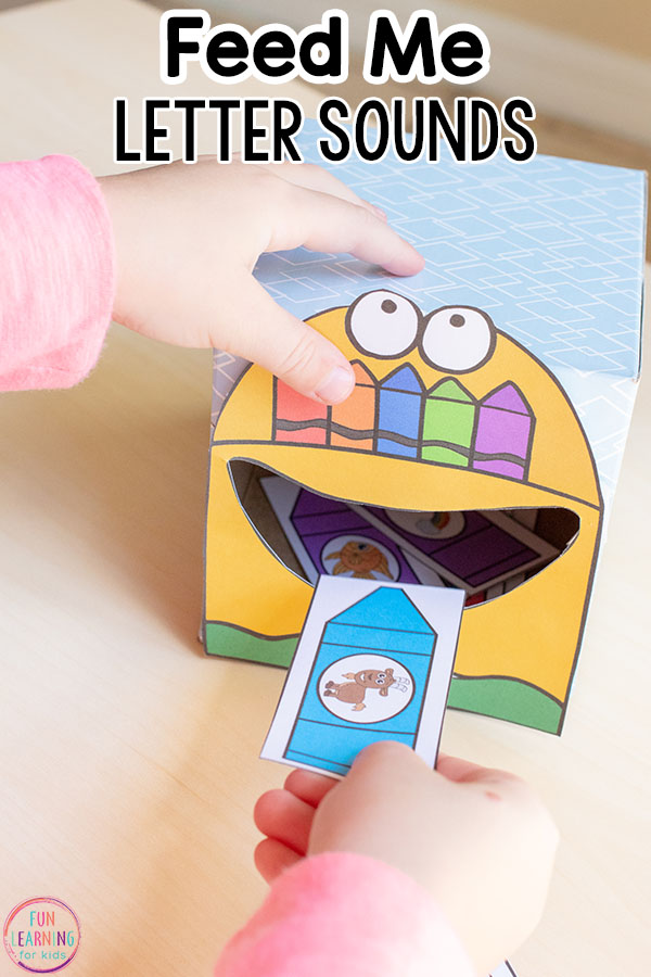 Teach beginning letter sounds with a fun feed me the letter activity for preschoolers and kindergarten students.