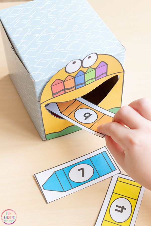 Kids love this fun, hands-on numbers activity.