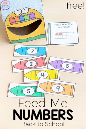 Feed Me Numbers Crayon Activity for Back to School