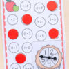 A fun and differentiated apple spin and cover addition activities.