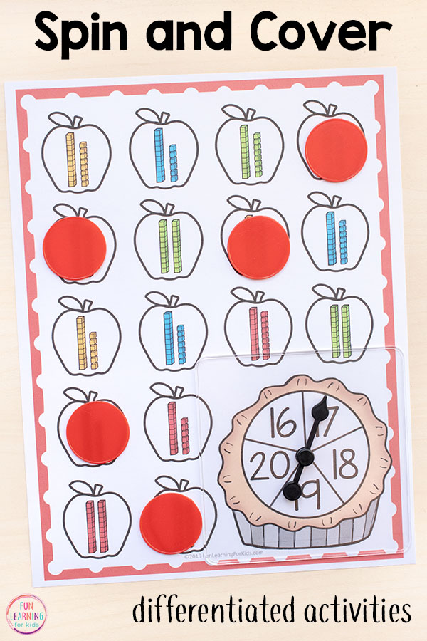 Your kids will love these differentiated math games for your math centers or math stations.