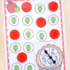 Fun apple counting game that is differentiated and hands-on.