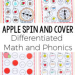 Differentiated Apple Theme Spin and Cover Math and Literacy Activities